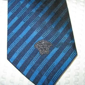 Authentic Versace Medusa Silk Tie - New with Tags